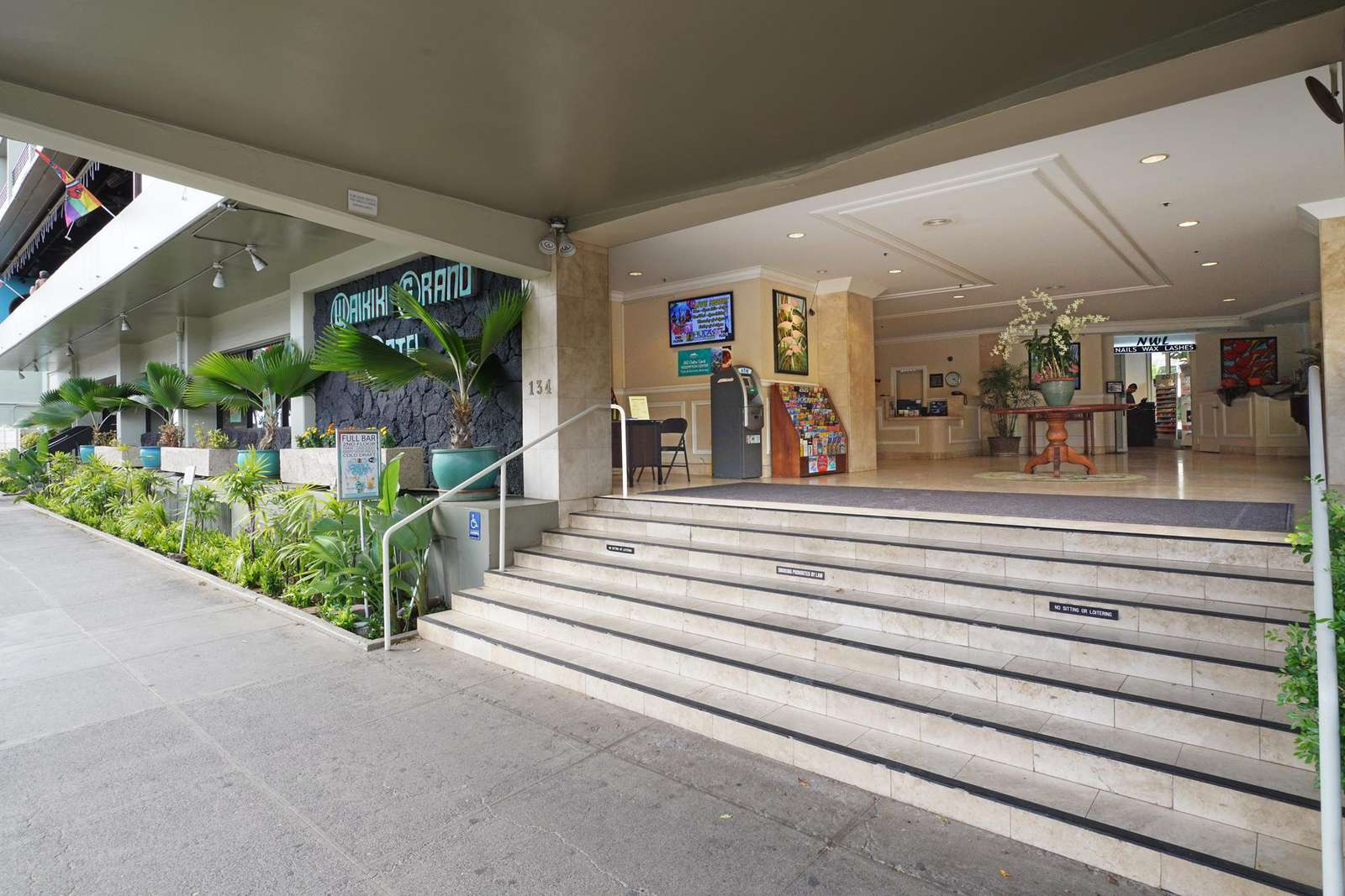 Our lobby has an ATM & plenty of ideas for trips around Oahu
