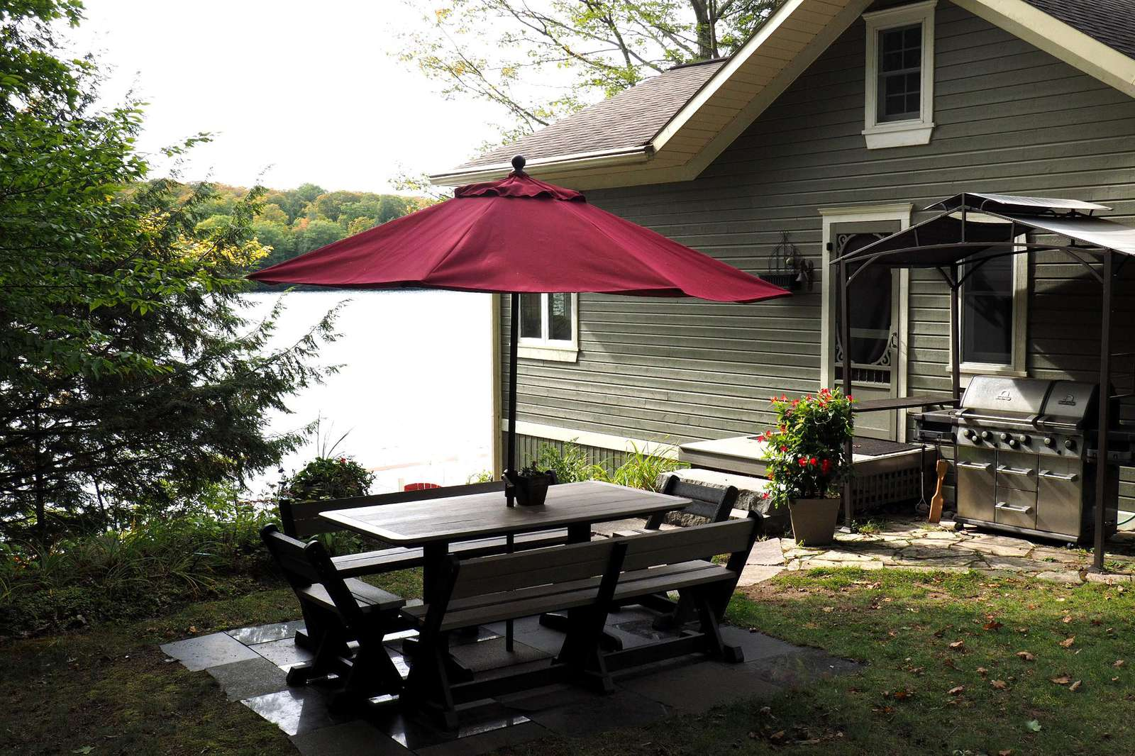 Outdoor Table with BBQ