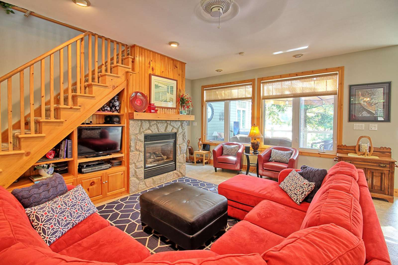 Living Room with Propane Fireplace