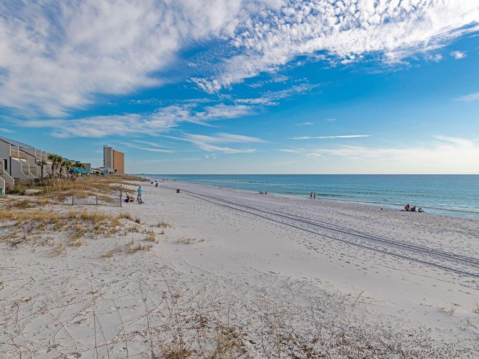 Regency Towers is beachfront!