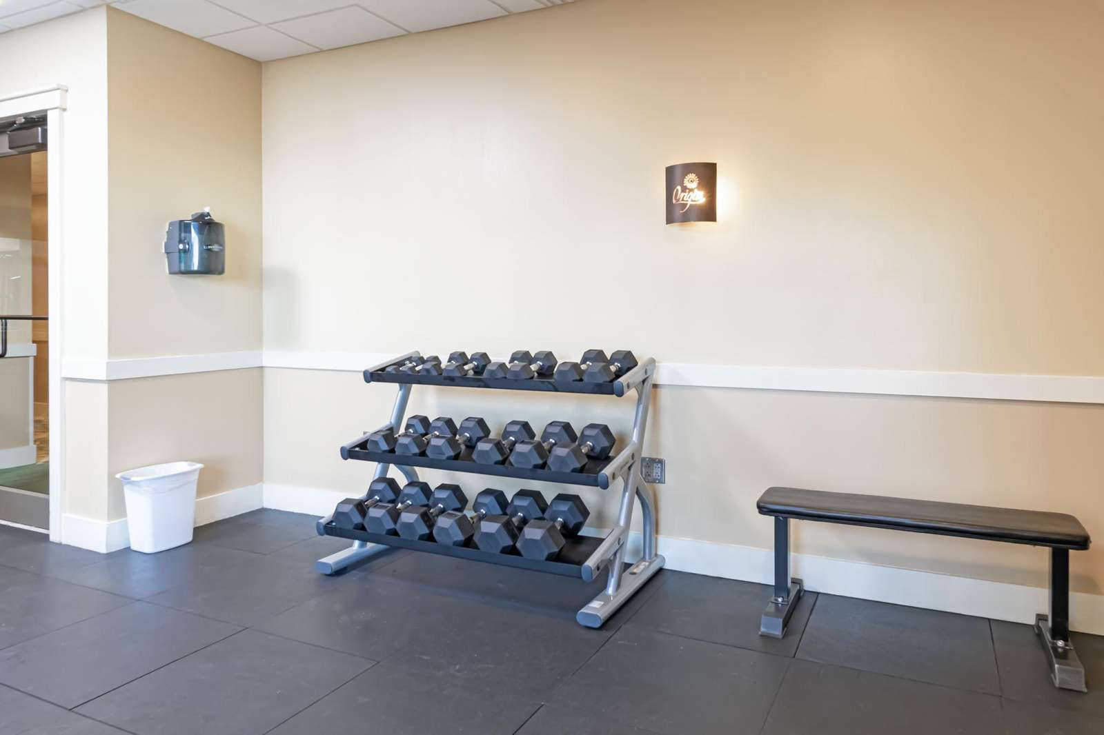 Stocked exercise room for your use!