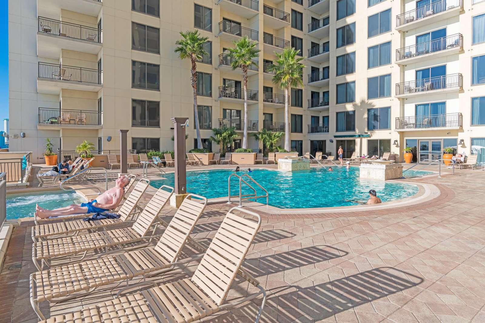 Large heated pool on the 4th floor!