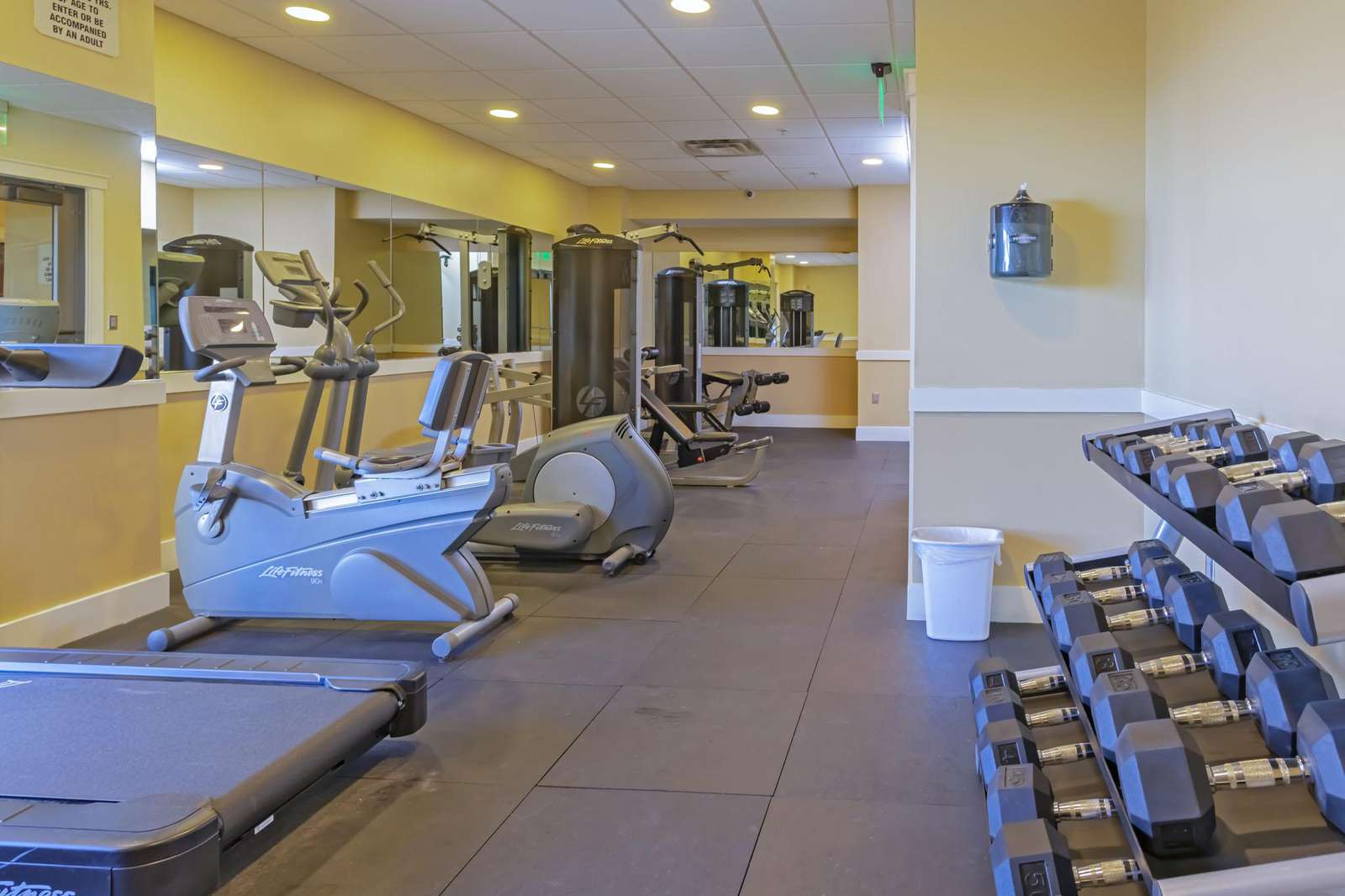 A great exercise area and equipment available!