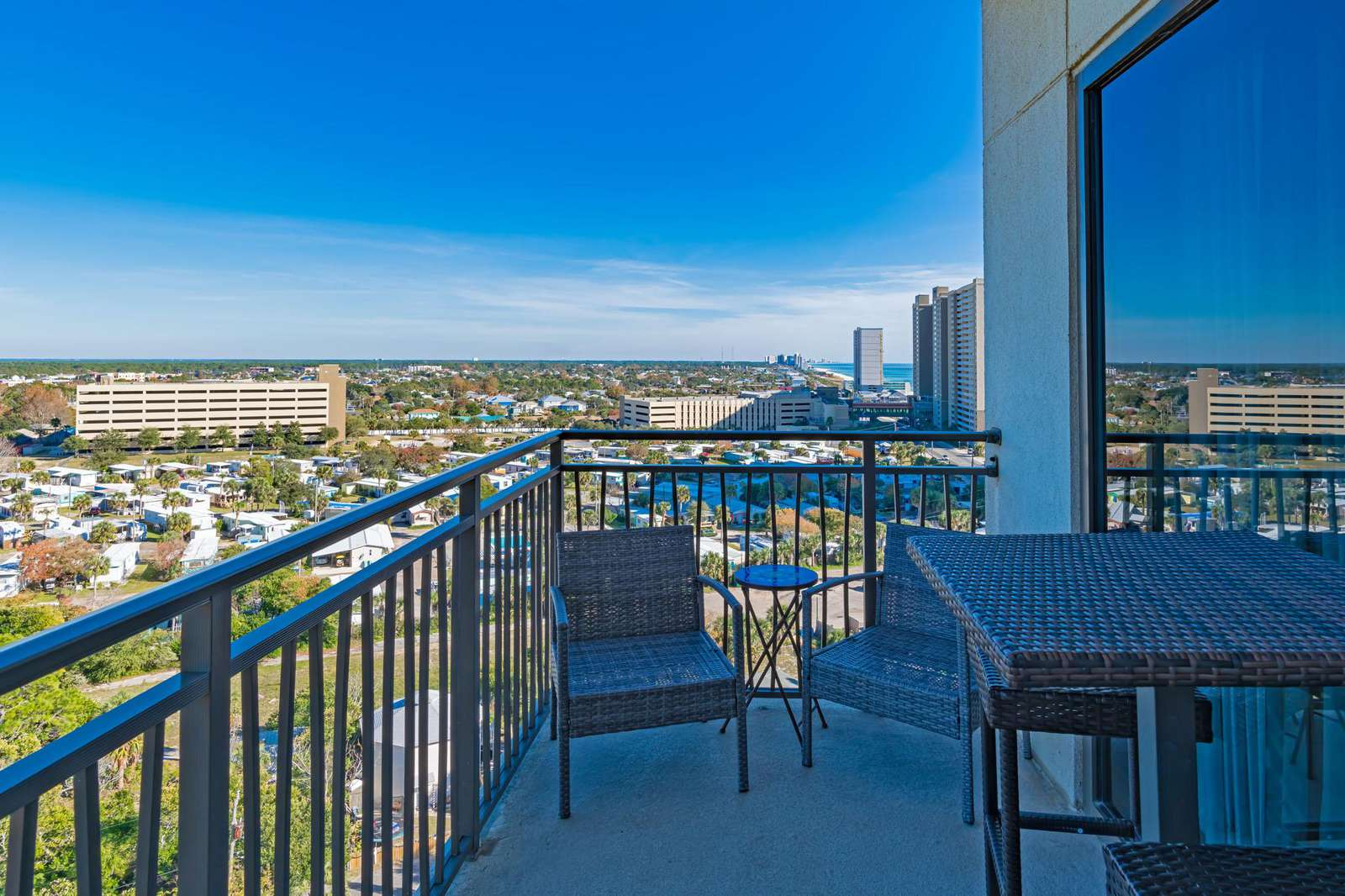 Your own private balcony with beach and Pier Park views!