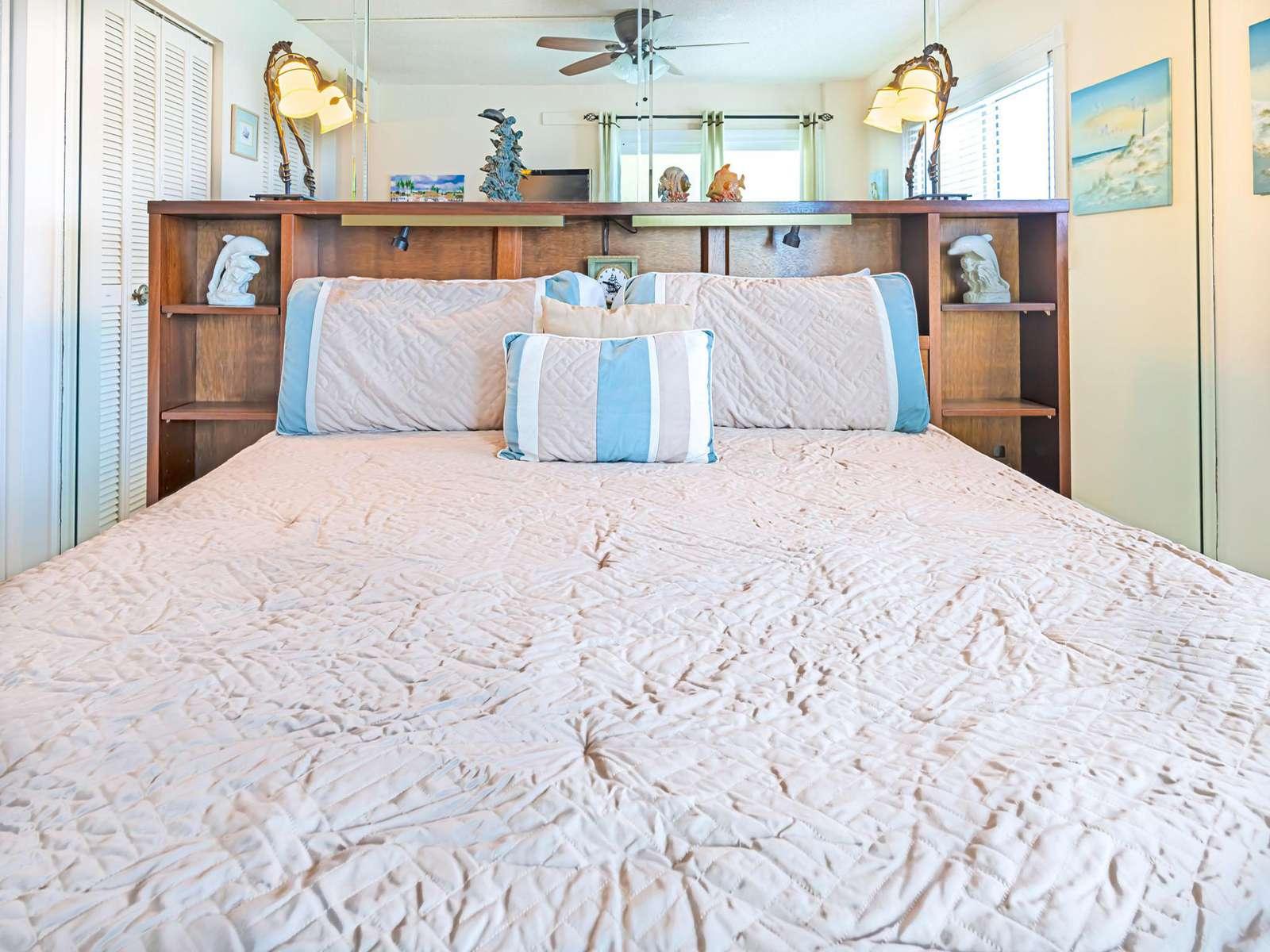 Plenty of pillows and basic linens provided!
