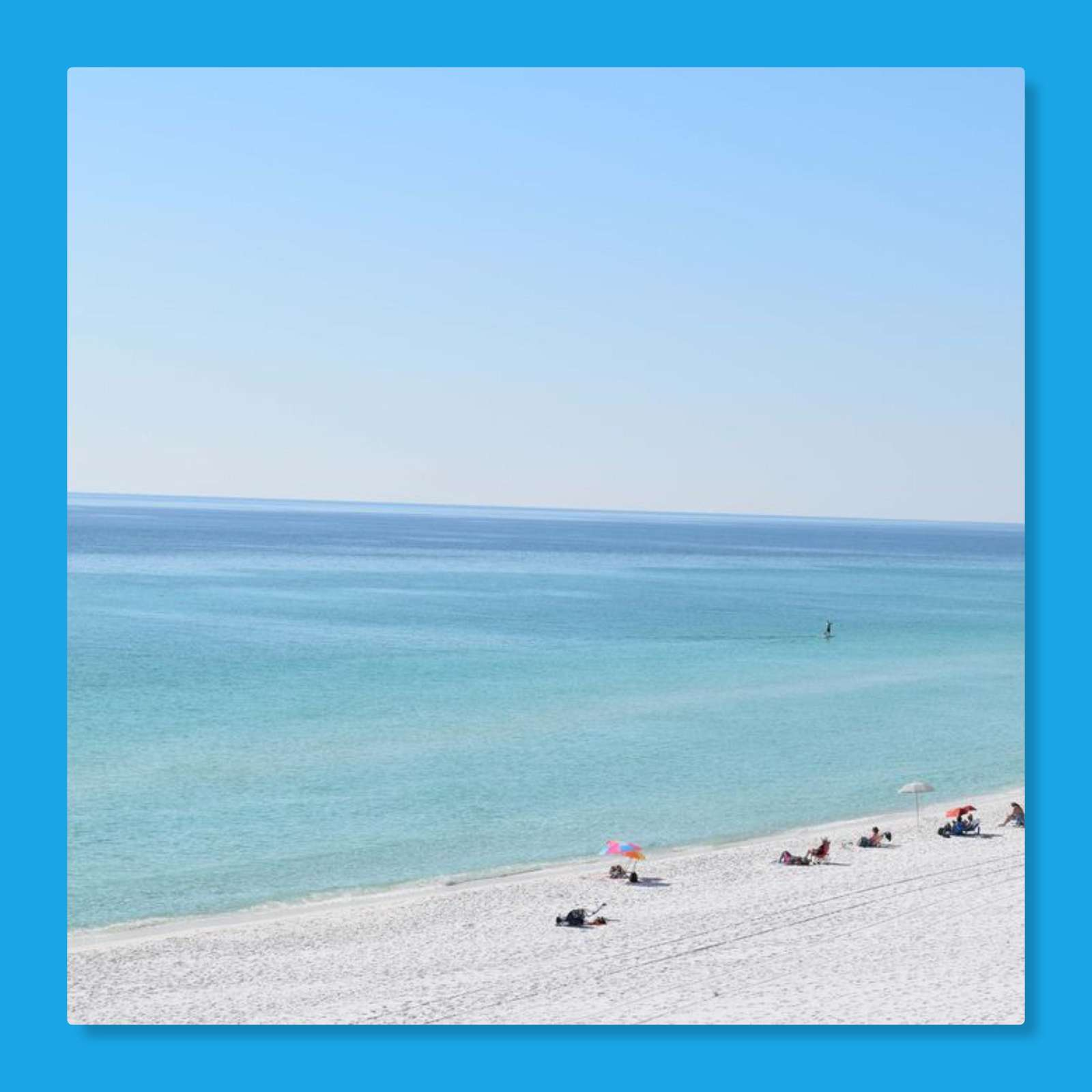 Crystal blue waters of the gulf