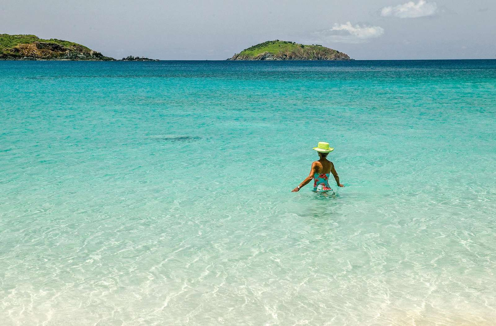 The calm, turquoise water is calling your name