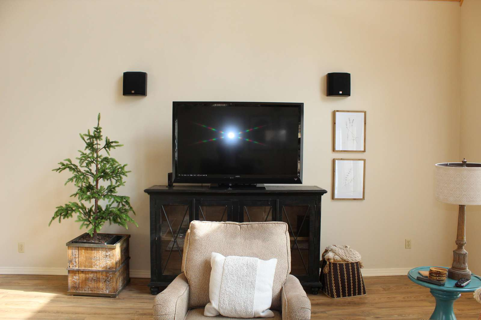 Living Room TV with Surround Sound