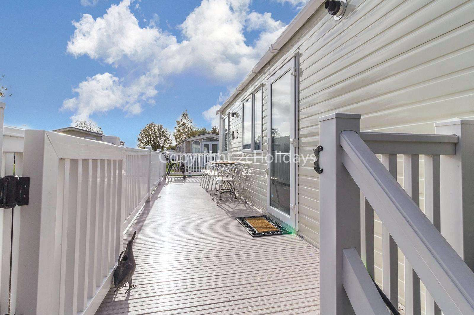 Beautiful gated decking area, ideal for families!