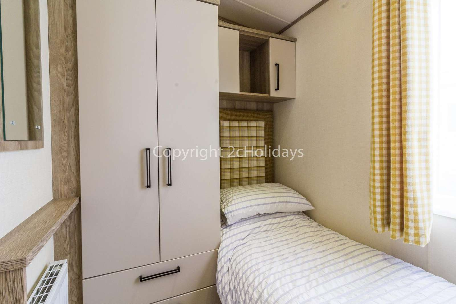 Theres plenty or storage in this twin bedroom!
