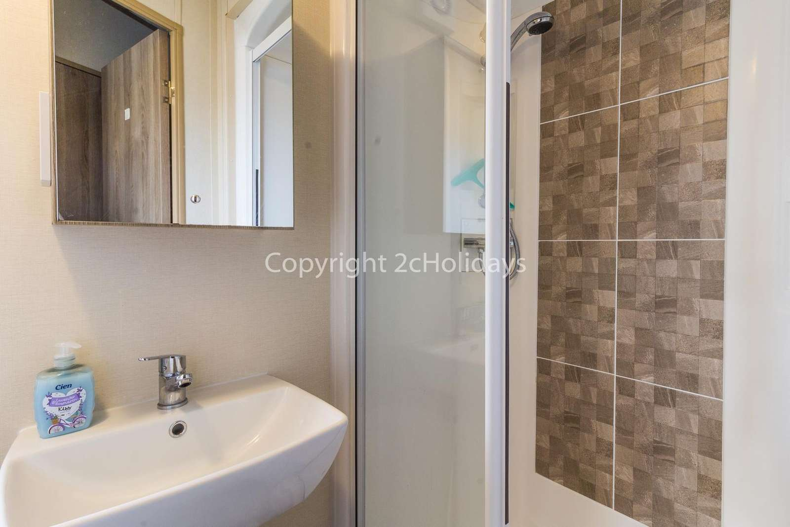 Family wet room with a modern shower!