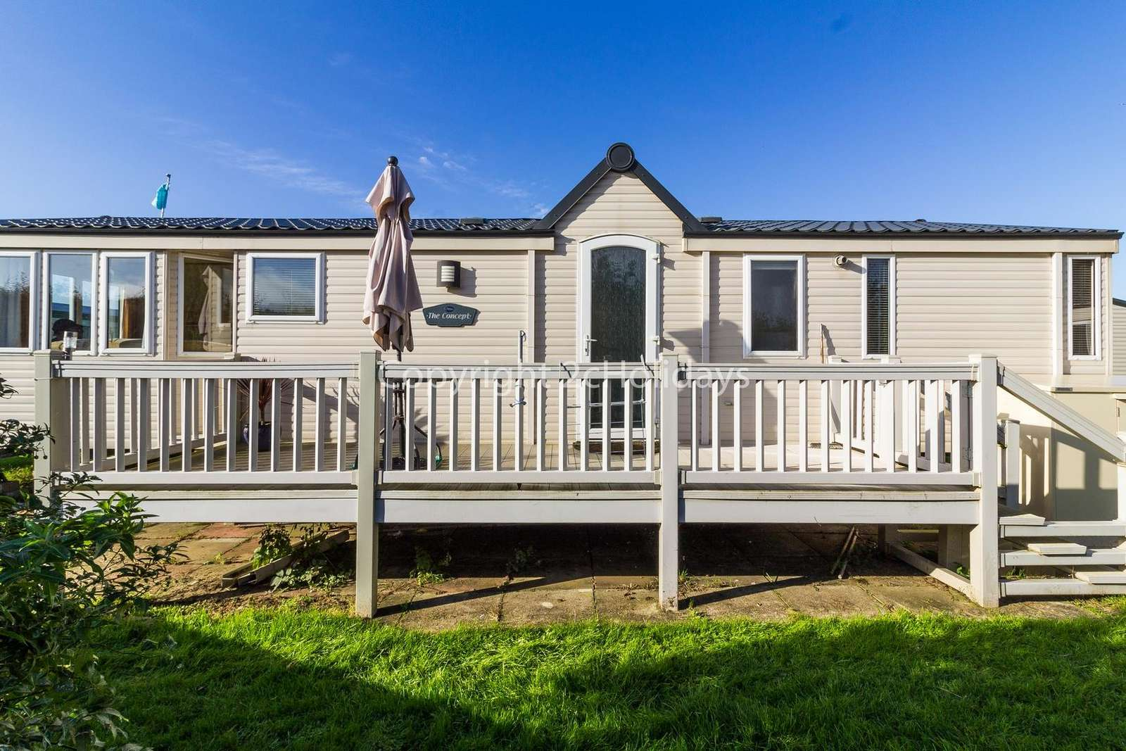 You can relax in the sunshine with decking and outside furniture!