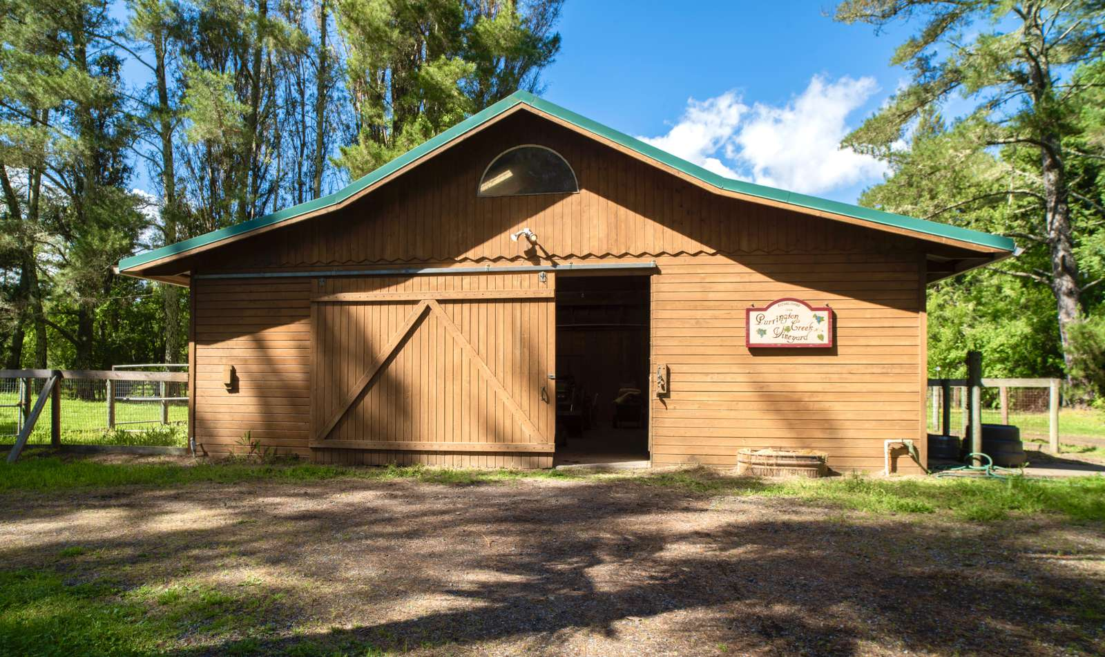 Winemaking barn & stables
