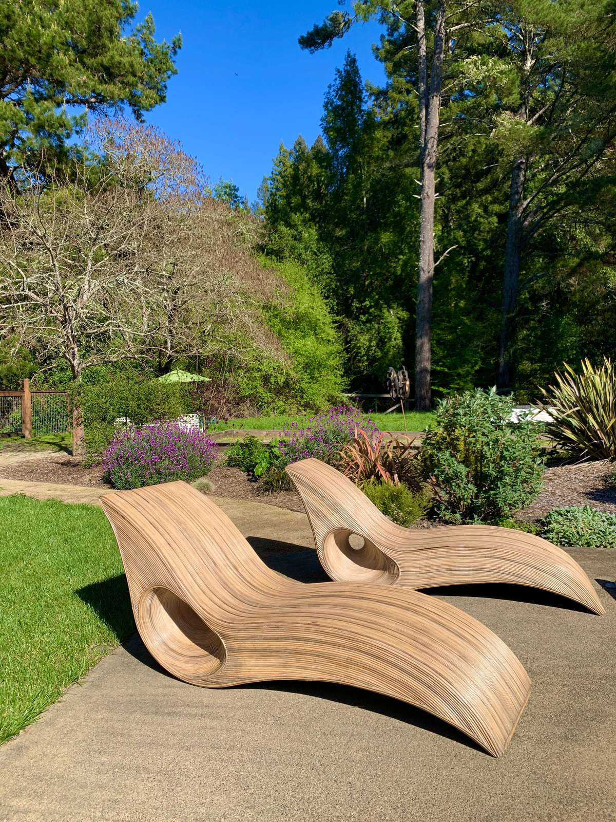 Handcrafted Balinese bamboo loungers