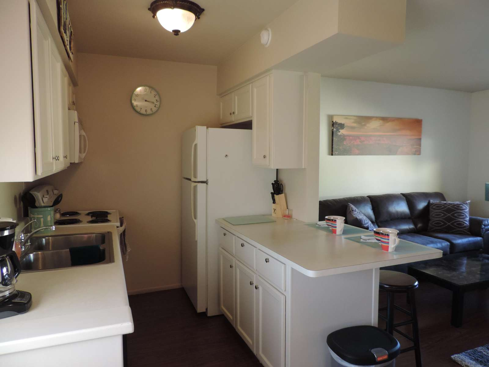 Galley Kitchen has all you will need for your stay
