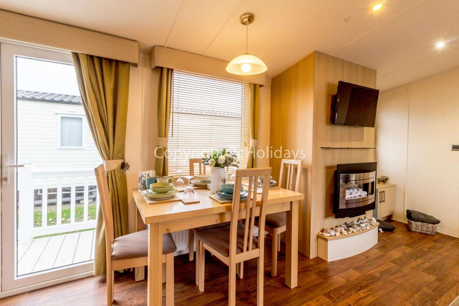 Spacious dining area ideal for family meals