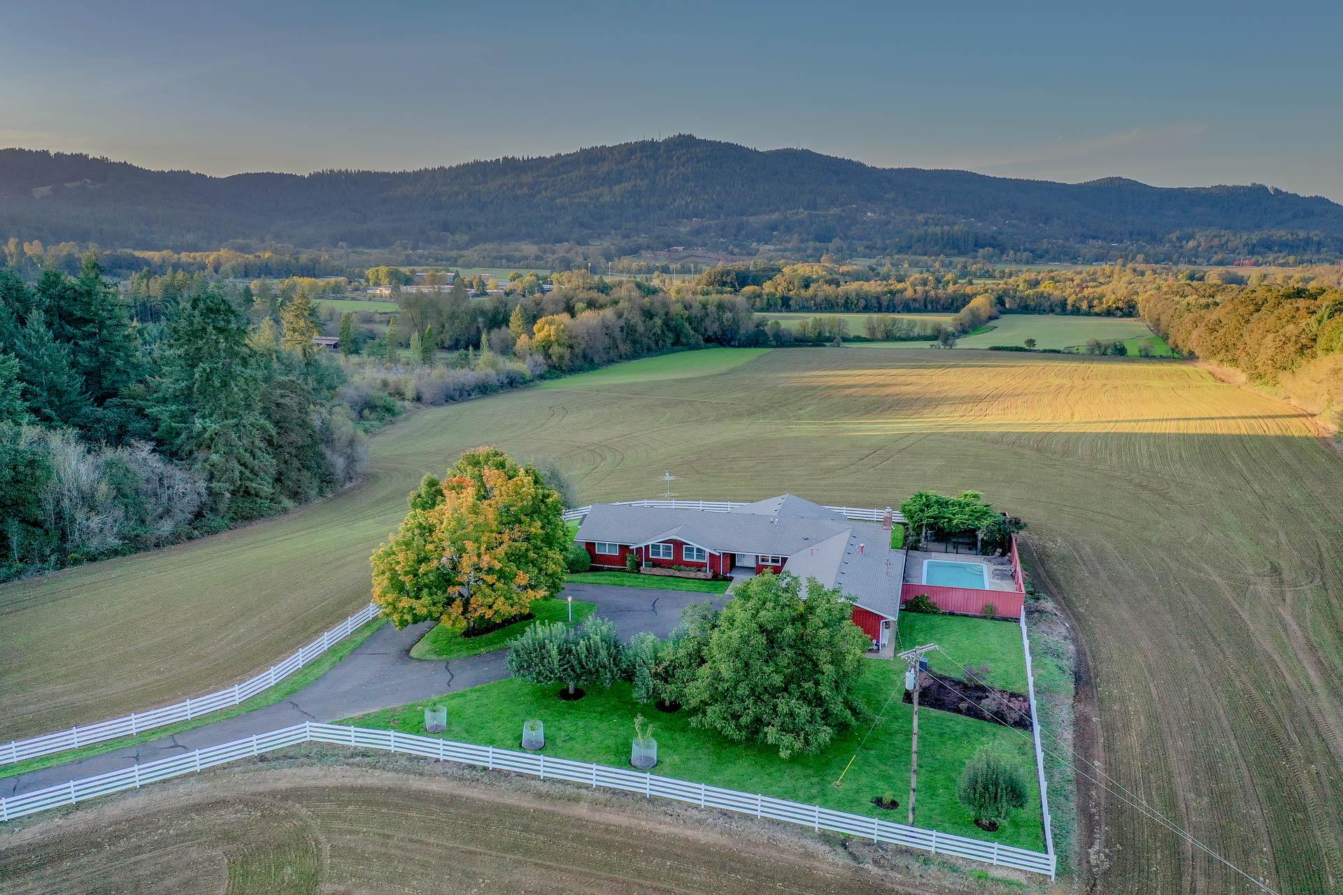 November aerial shot of Highland Acres.Highland Acres - View of the Outdoor Swimming Pool