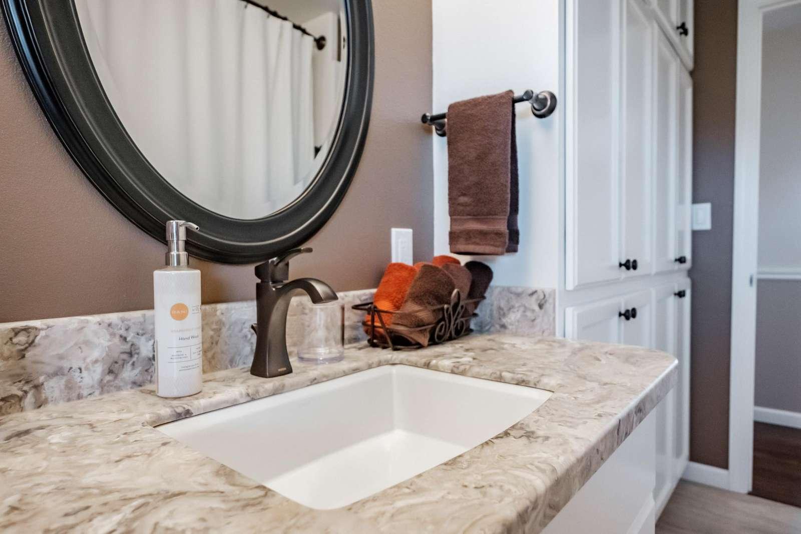Bathroom - each sink has similar amenities