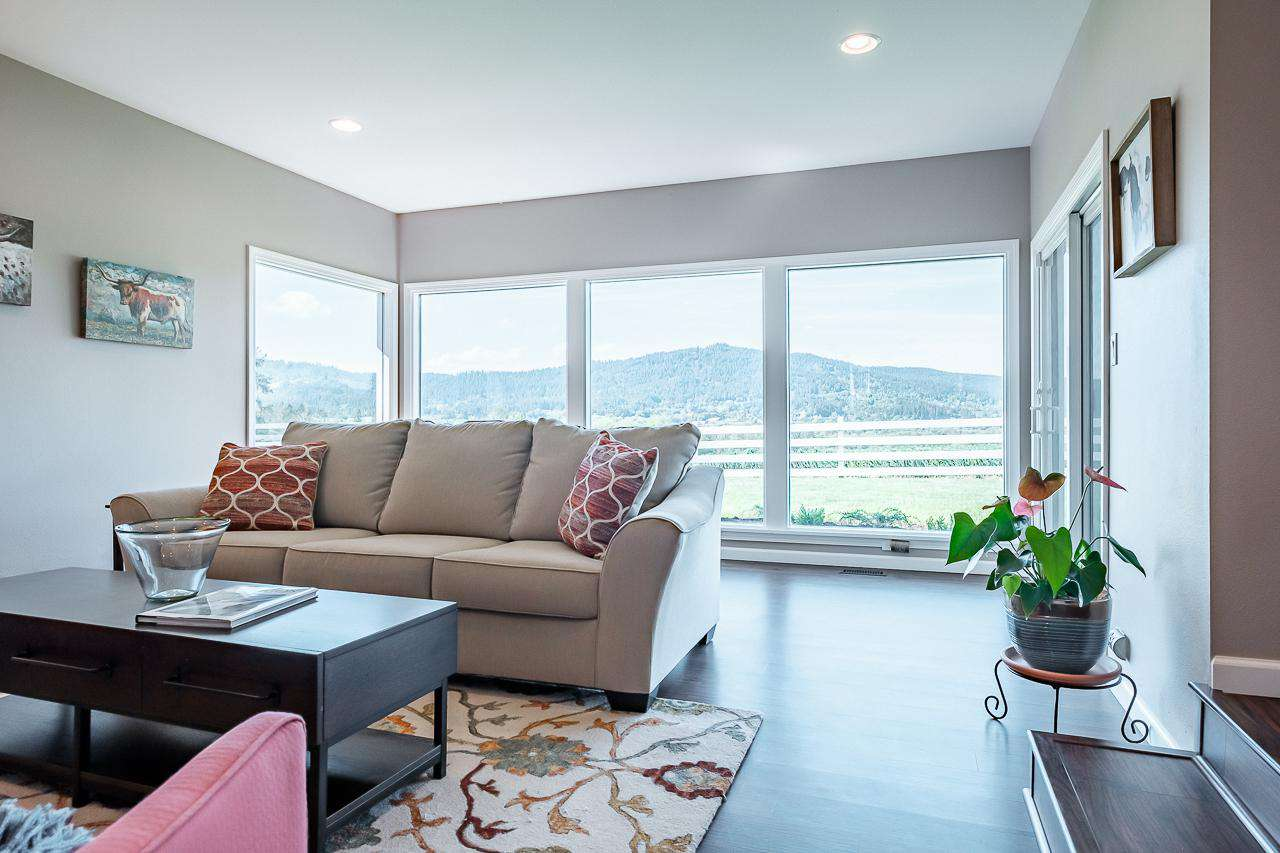 The panoramic view is breath taking from Highland Acres - Sunken Living Room
