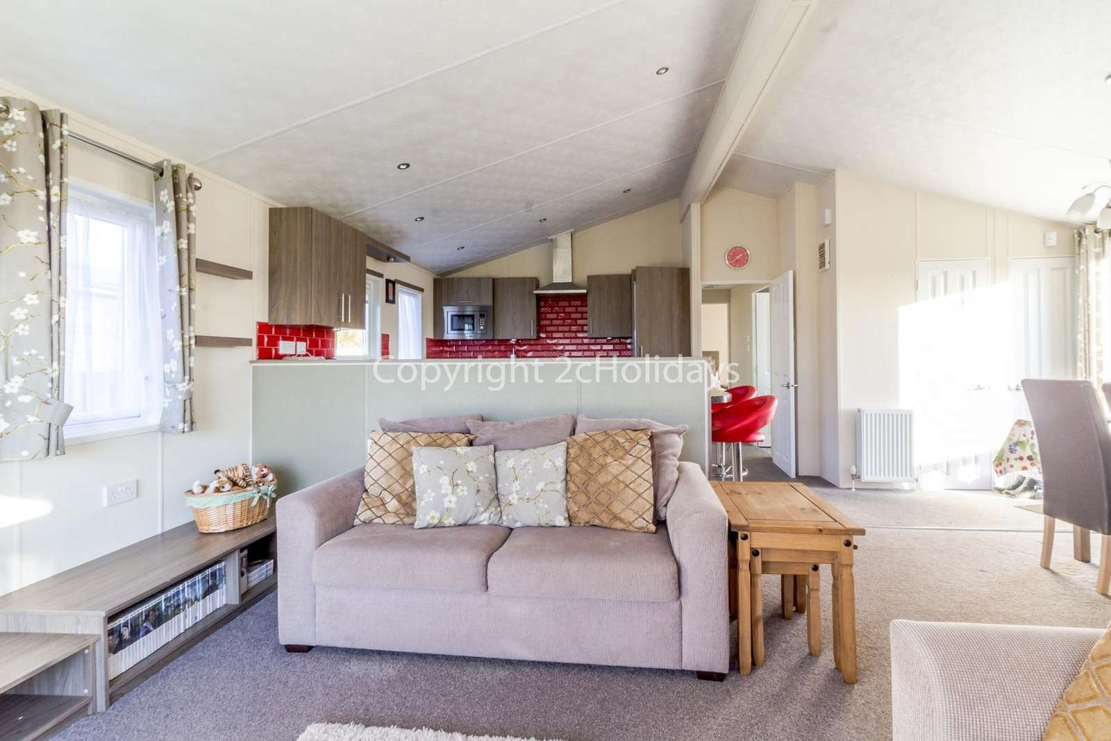 Open plan kitchen and living/dining area!