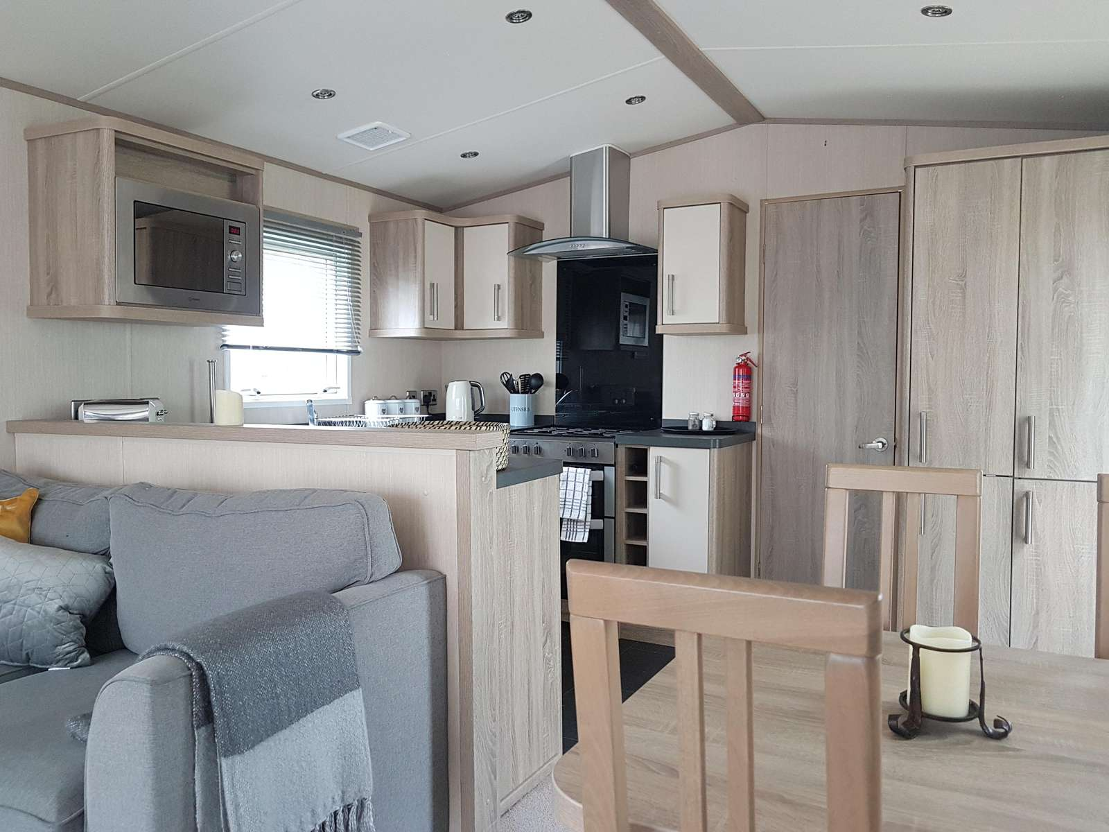 Spacious and open plan