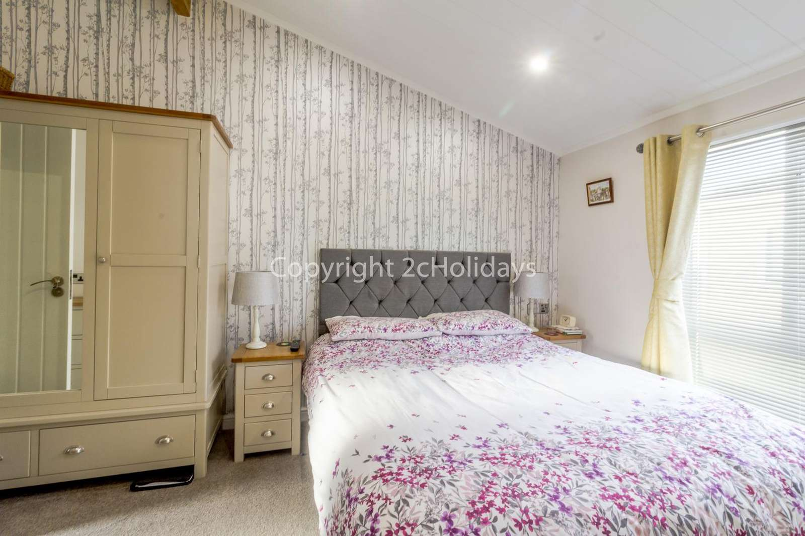 You can find plenty or storage in this mast bedroom!