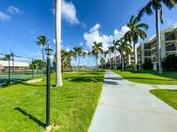 Palm-lined walkways to the tennis court and beach thumb