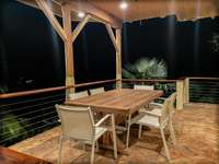 The lower level's outdoor cabana. thumb
