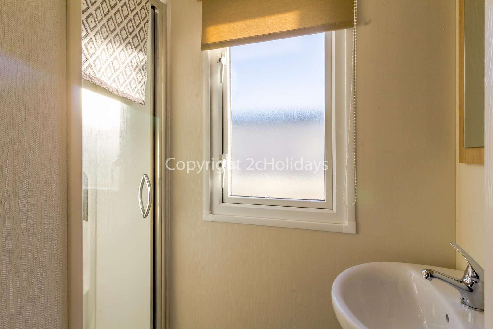 A great size family shower room