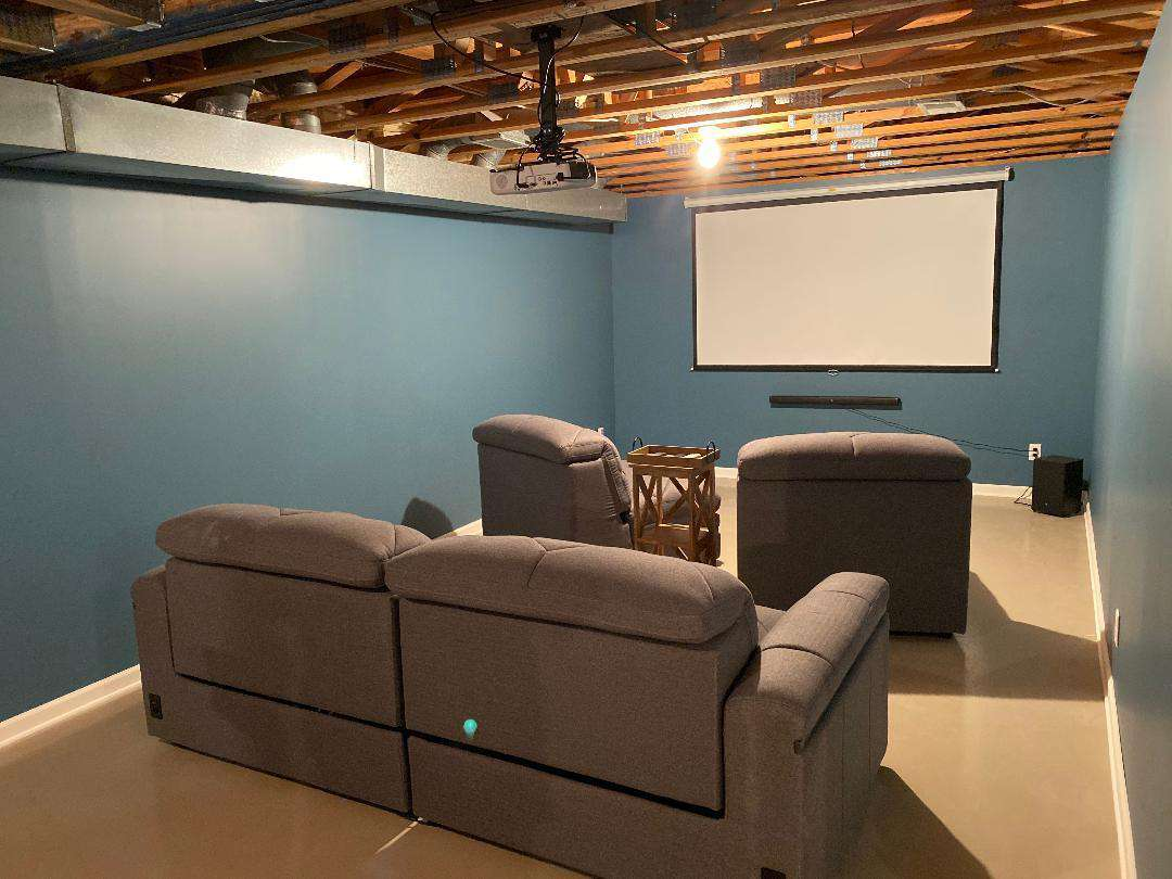 Media Room; lower level