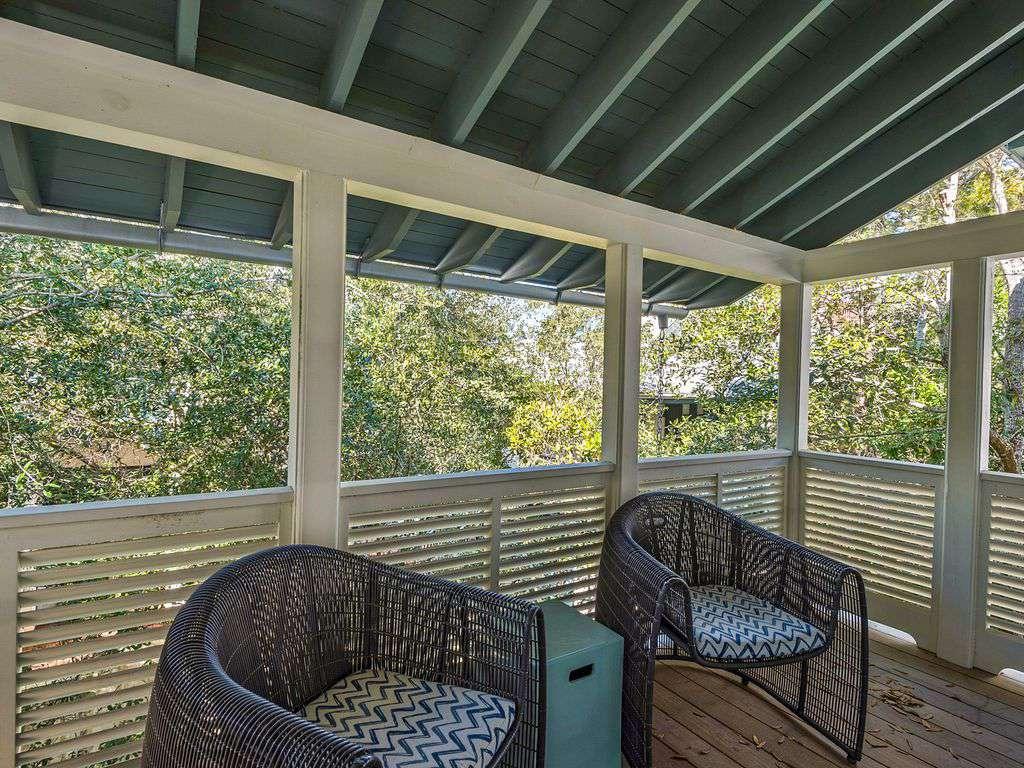 Outdoor balcony off master