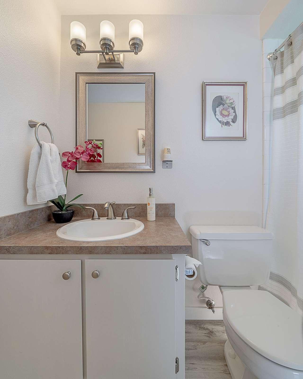 Hall Bathroom - Soft lighting - Hair Dryer Available