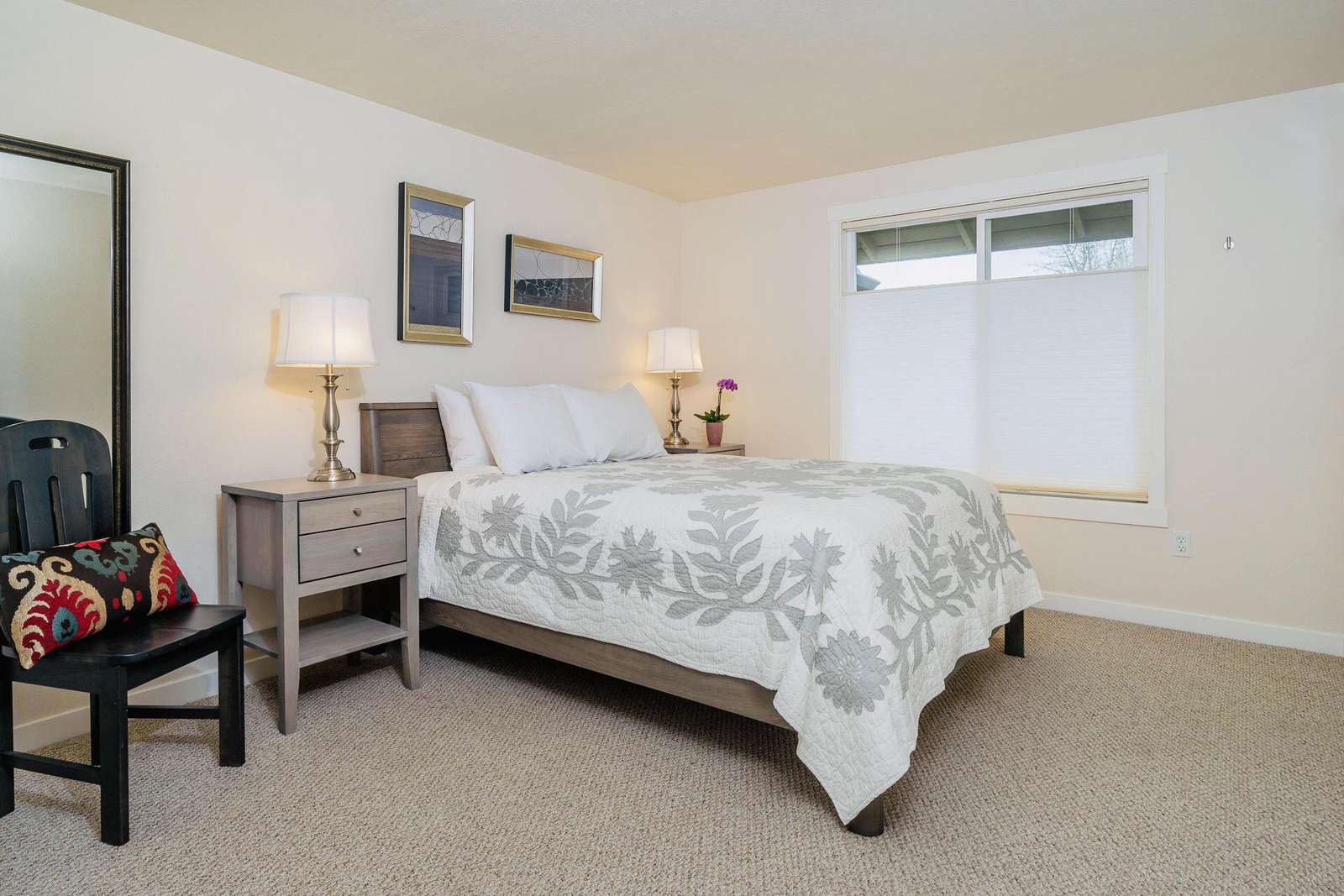 Master Bedroom with High-End Pillow-Top Bed and Luxury Linens