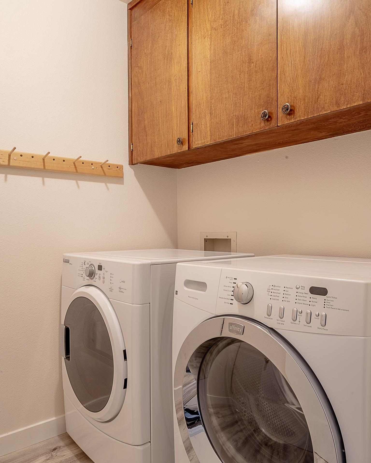 Utility Room with Front Loading Washer & Dryer