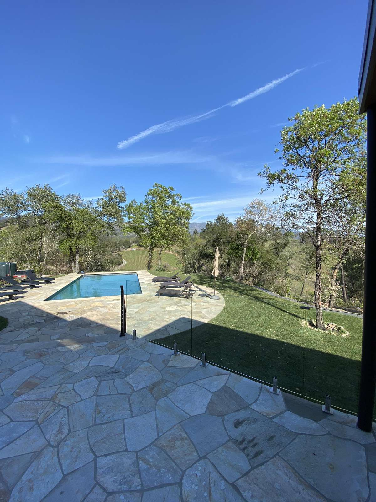 View of pool from patio