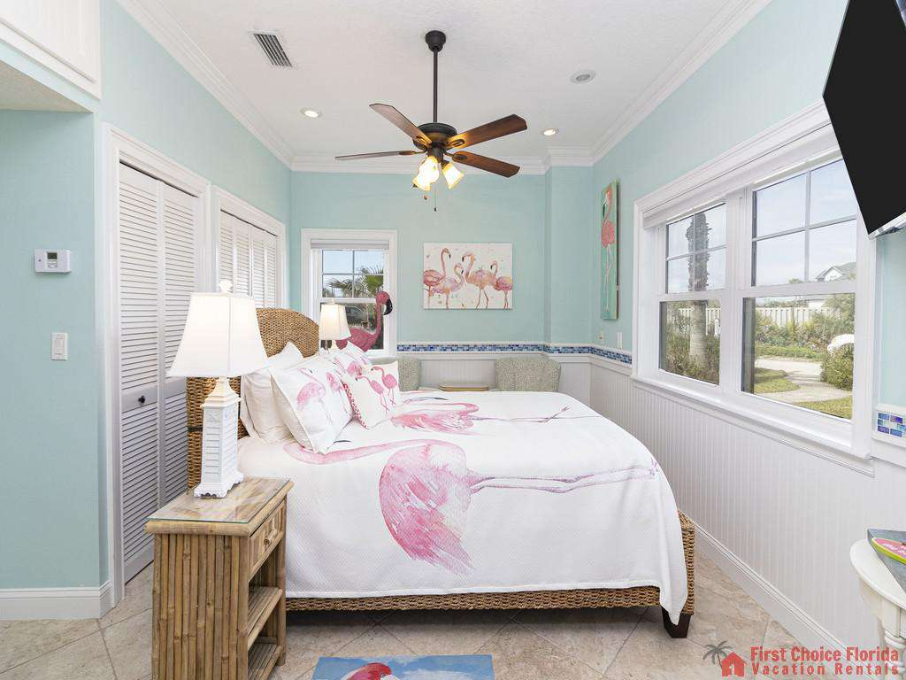 Oyster House Bedroom with TV and Fan