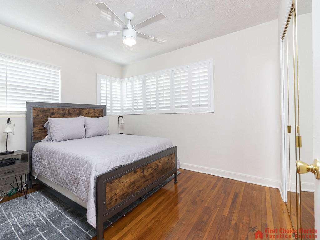 Deja Blue Bedroom with Ceiling Fan