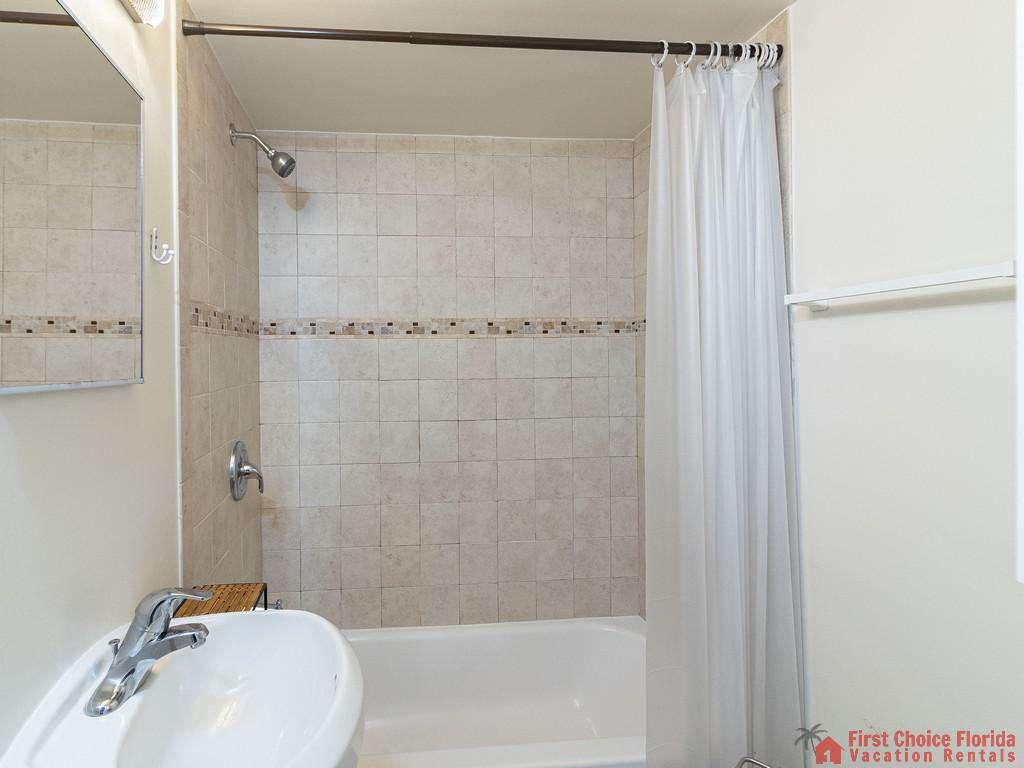 Deja Blue Bathroom with Tub Shower