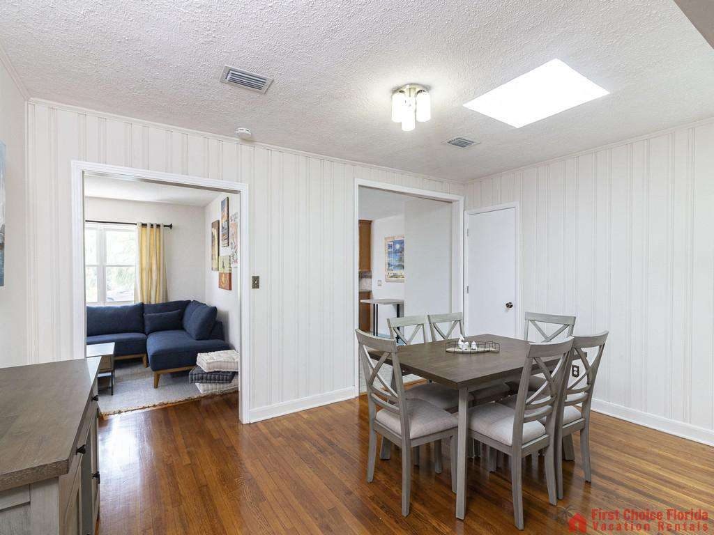 Deja Blue Dining Area and Family Room