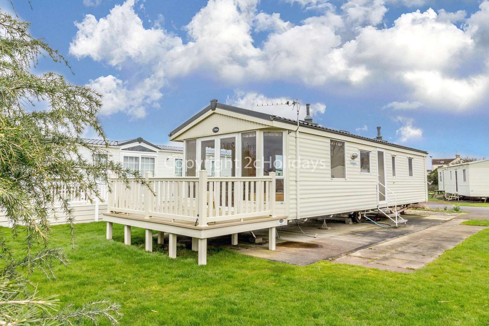 Homely accommodation with spacious living and dining area.
