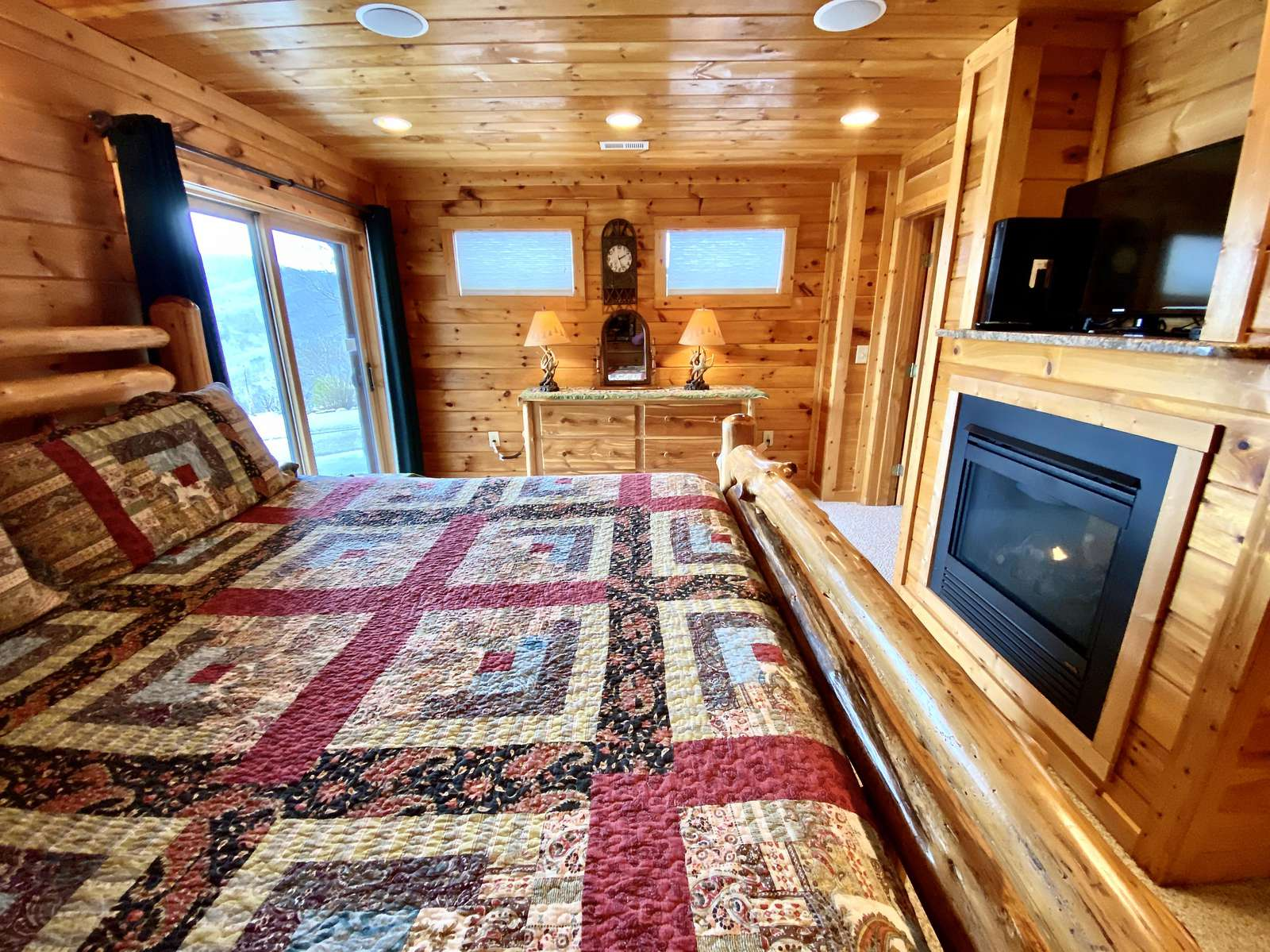 Spacious and Private Master Bedroom on the lower level