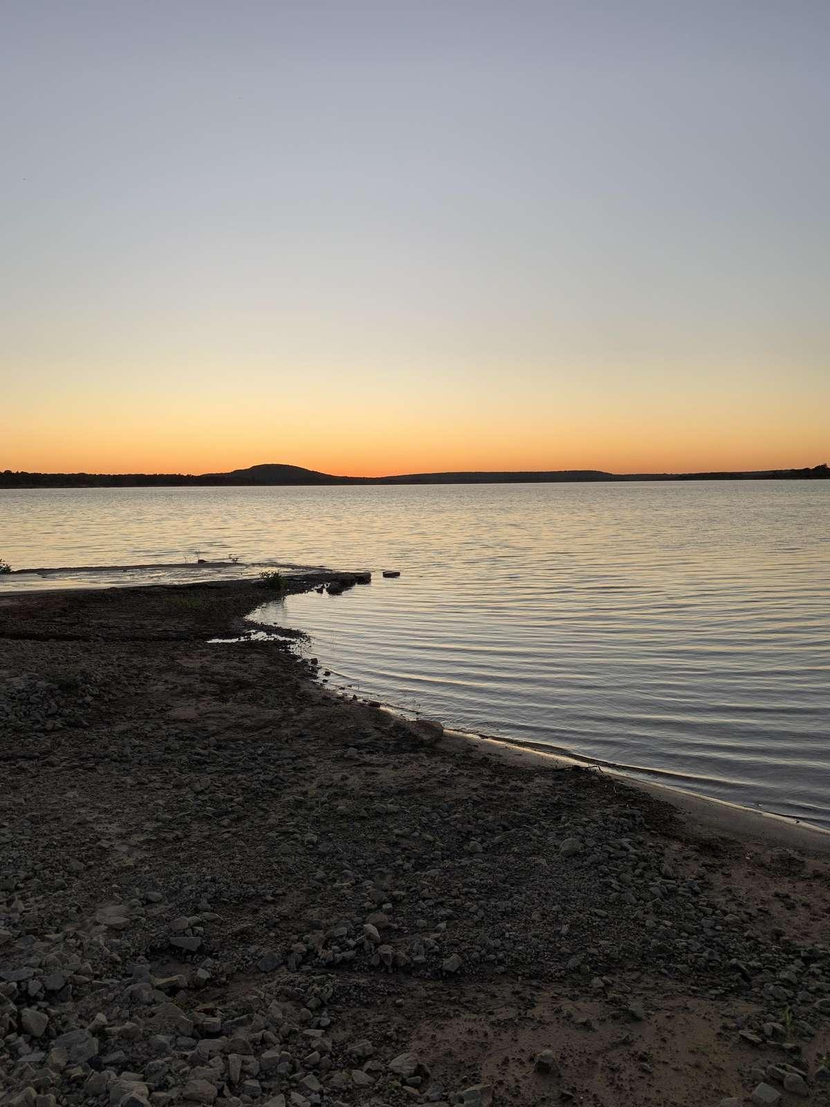 View of Lake Eufaula From Neighborhood Boat Ramp/Beach