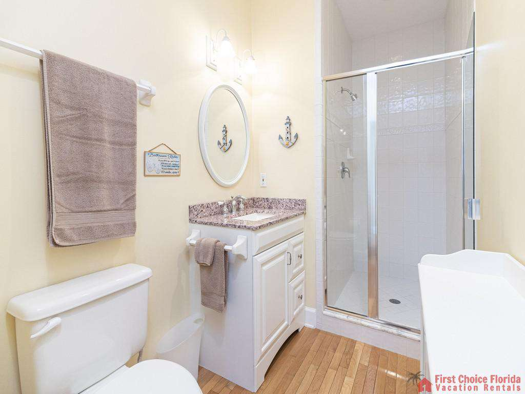 Lighthouse Watch Crows Nest Third Floor Bathroom with Walk-in Shower
