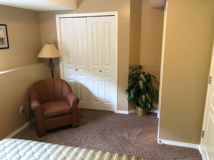 Lower level condo closet Bedroom 1