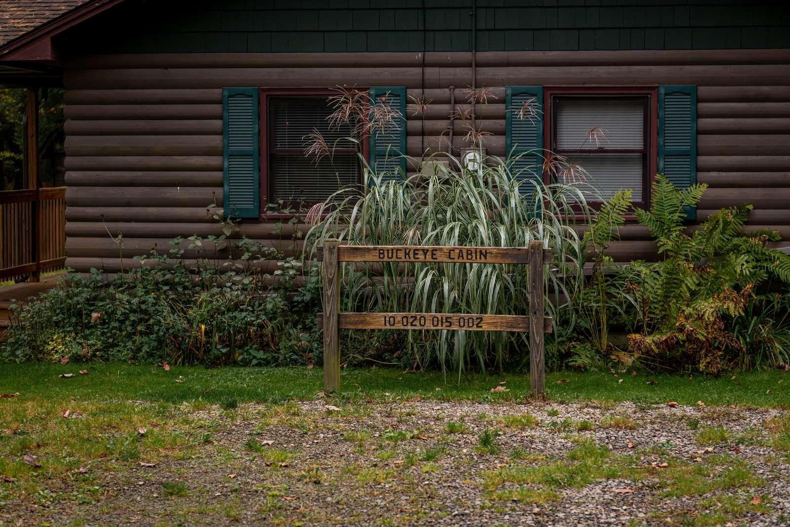 Buckeye Cabin Sign