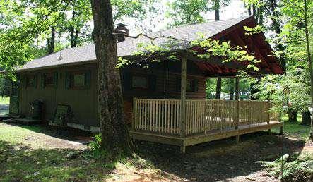 Rear view of Buckeye Cabin