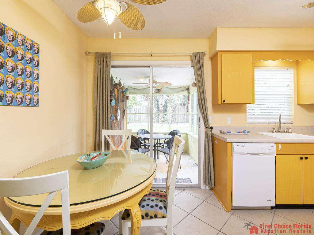 Coastal Cottage B Dining Room Kitchen Patio