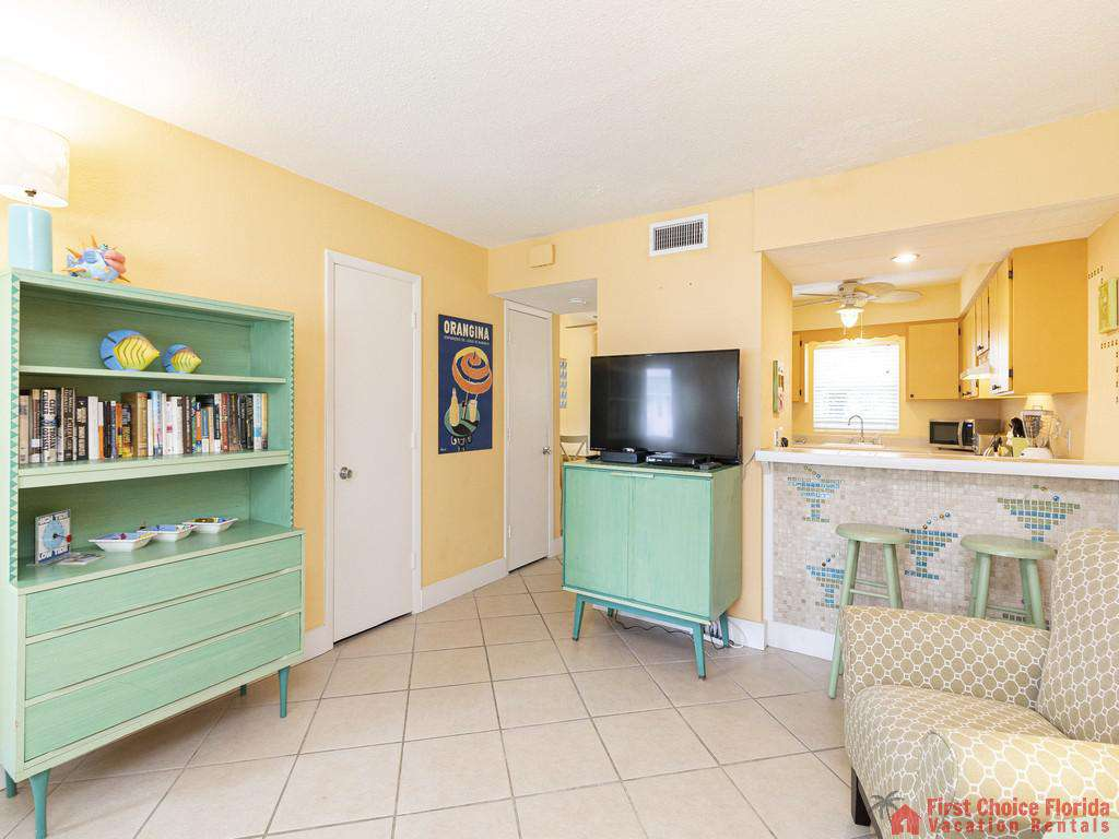 Coastal Cottage B Living Room to Kitchen
