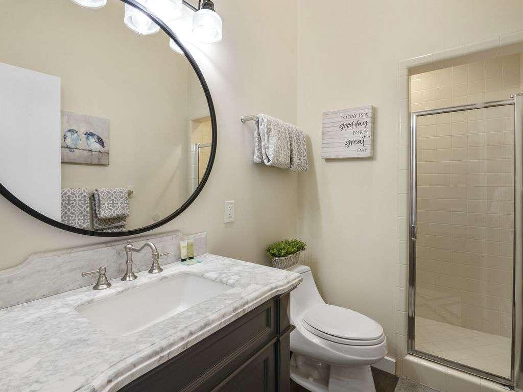 Shared bathroom on the upper level