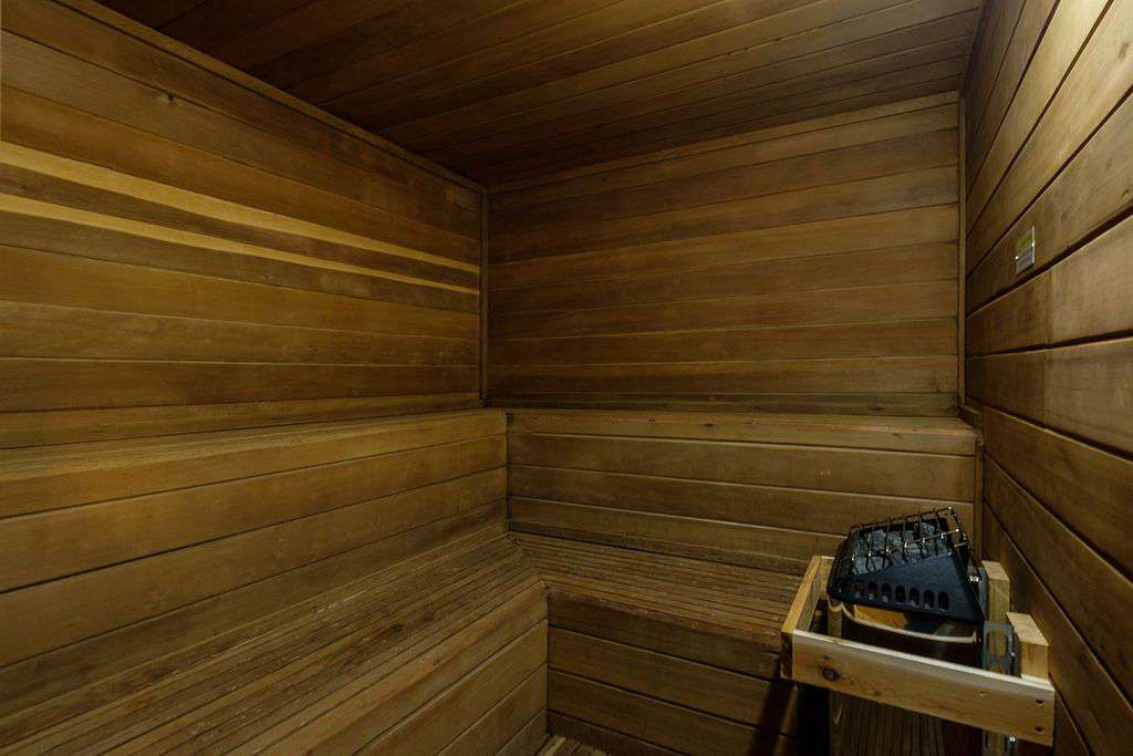 Condominium community sauna